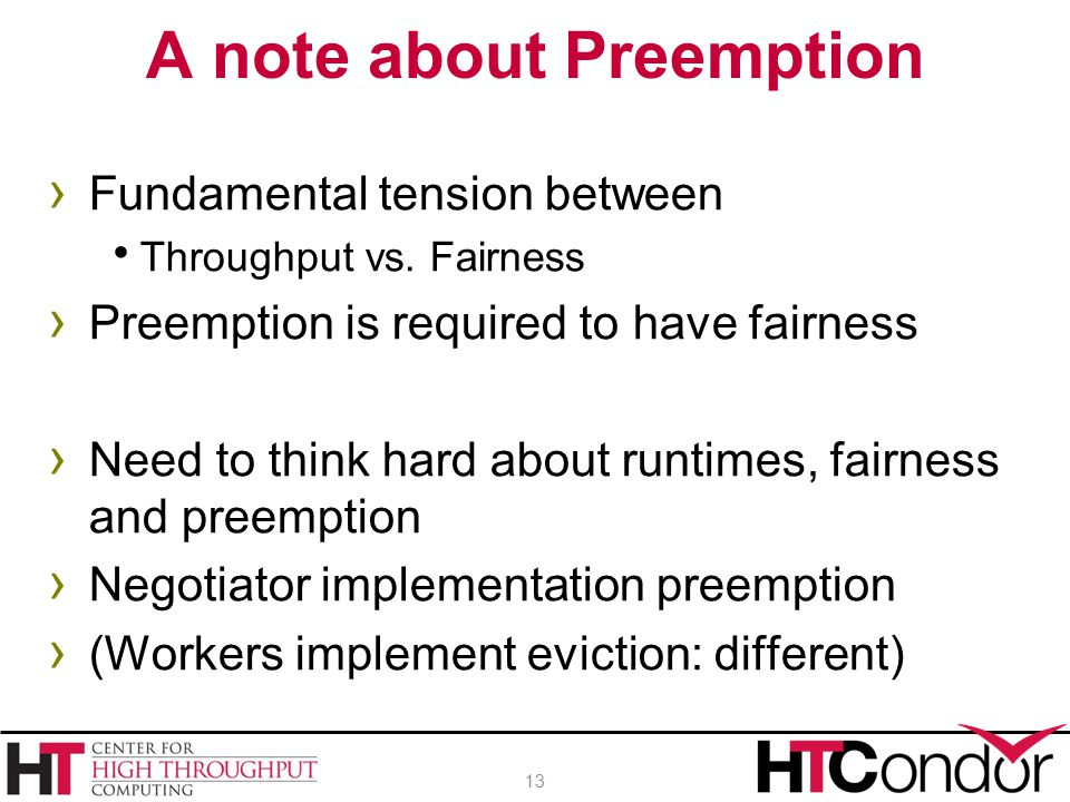 A note about Preemption