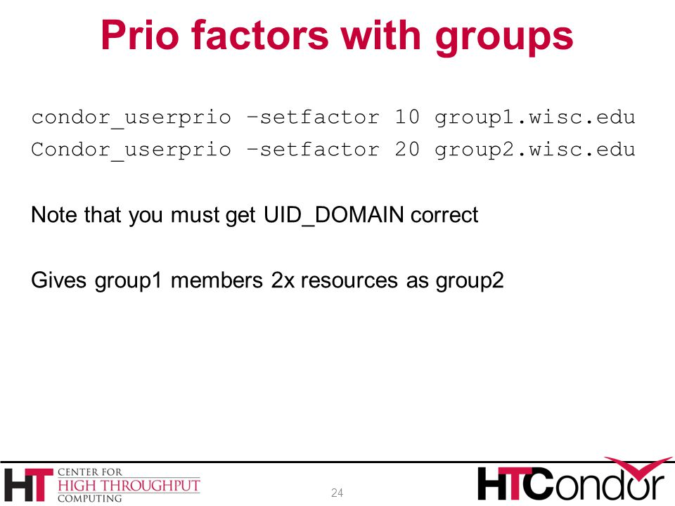 Prio factors with groups