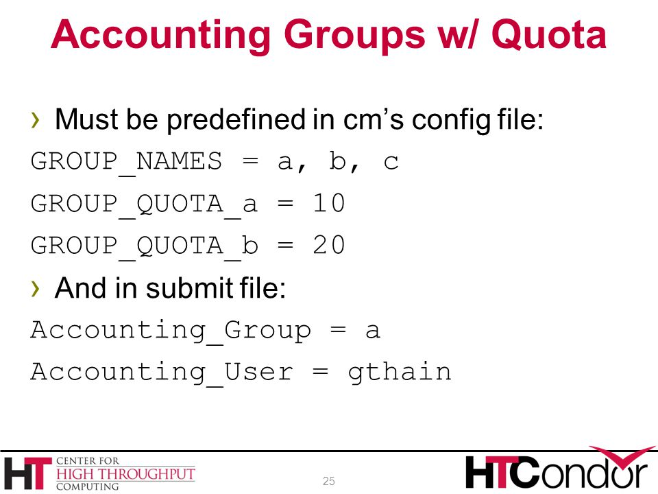 Accounting Groups w/ Quota