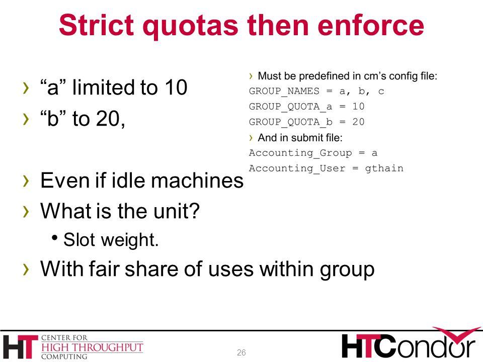 Strict quotas then enforce