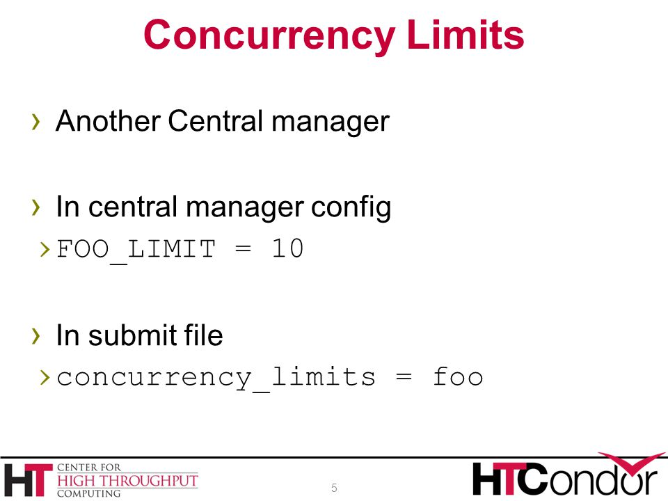 Concurrency Limits Another Central manager In central manager config