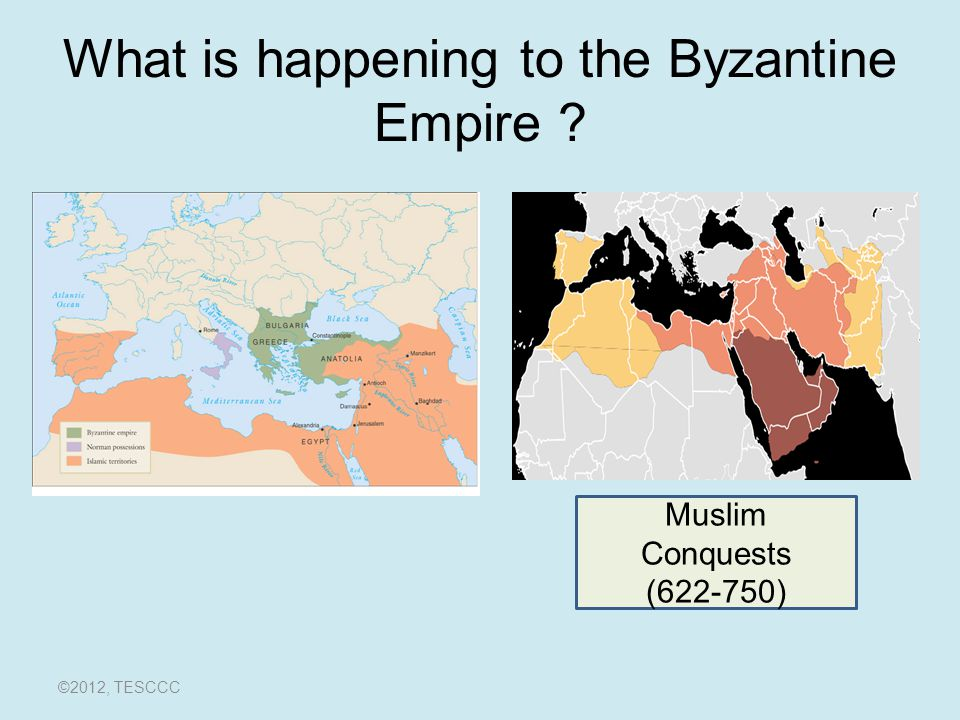 What is happening to the Byzantine Empire