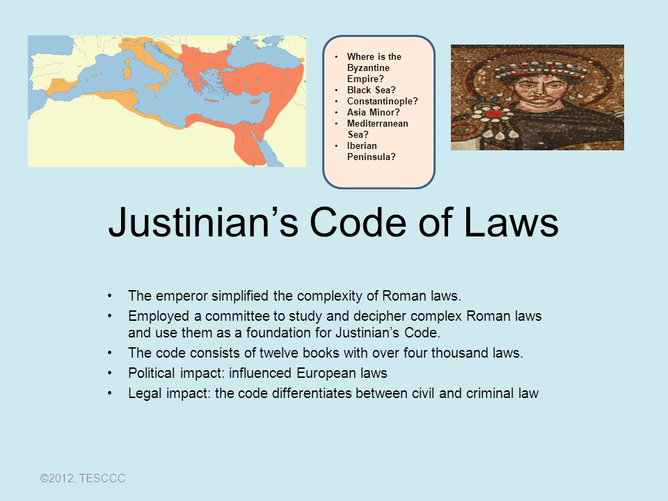 Justinian's Code of Laws
