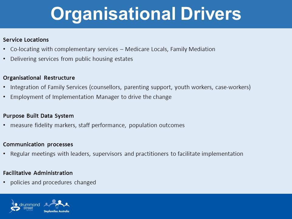 Organisational Drivers