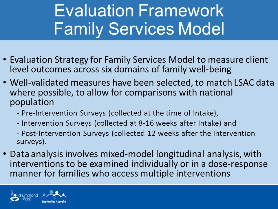 Evaluation Framework Family Services Model