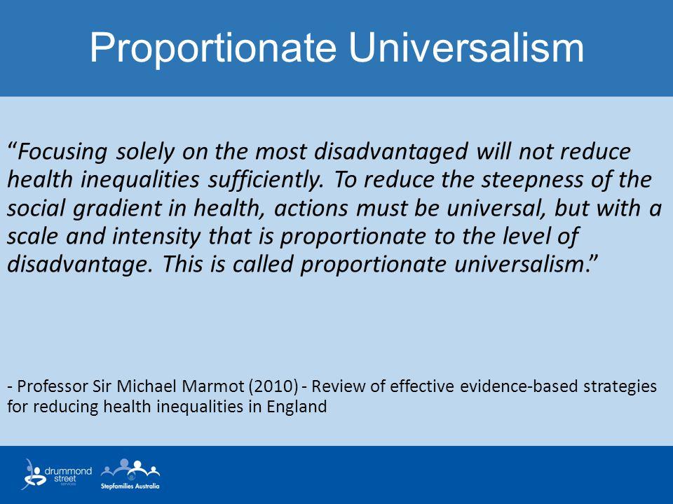 Proportionate Universalism