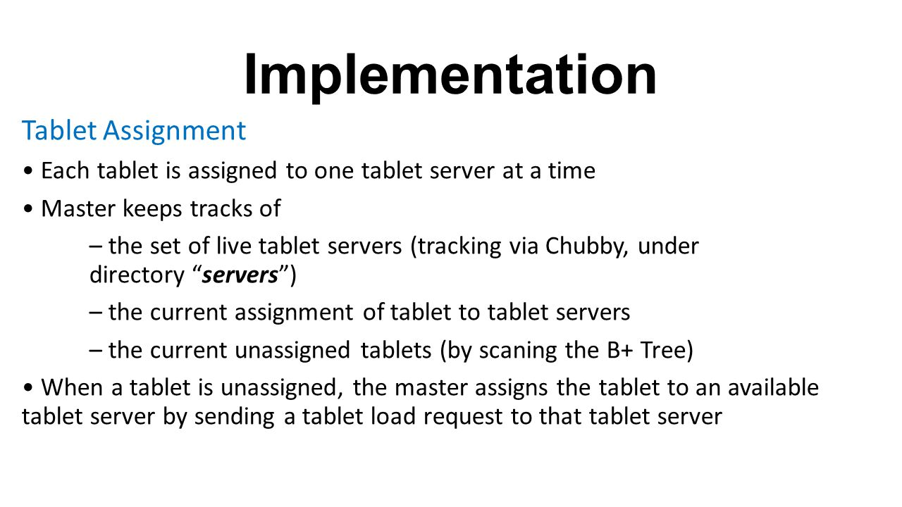 Implementation Tablet Assignment