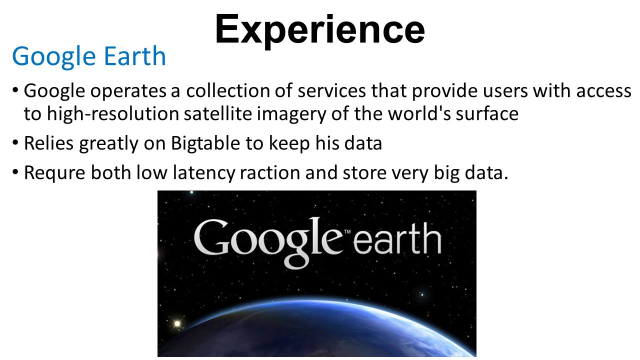 Experience Google Earth