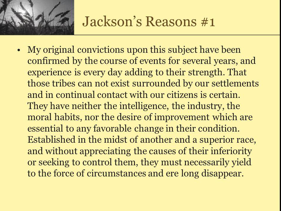 Jackson's Reasons #1