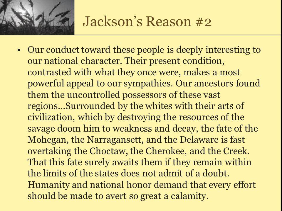 Jackson's Reason #2