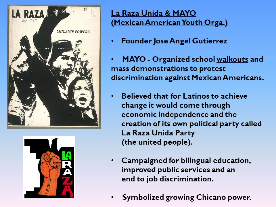 La Raza Unida & MAYO (Mexican American Youth Orga.) Founder Jose Angel Gutierrez.