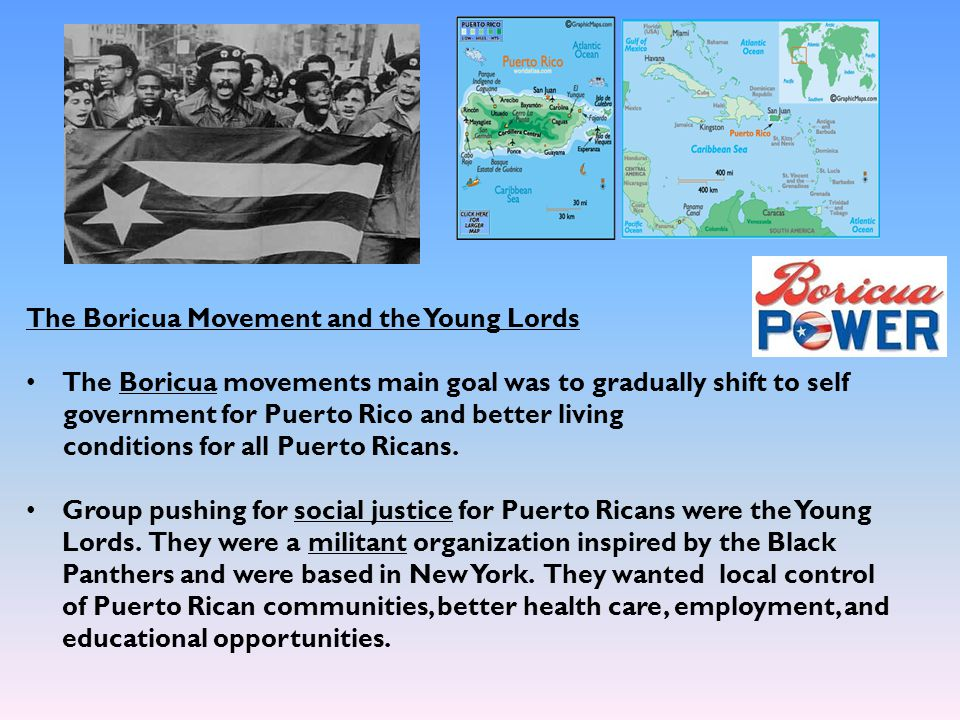 The Boricua Movement and the Young Lords