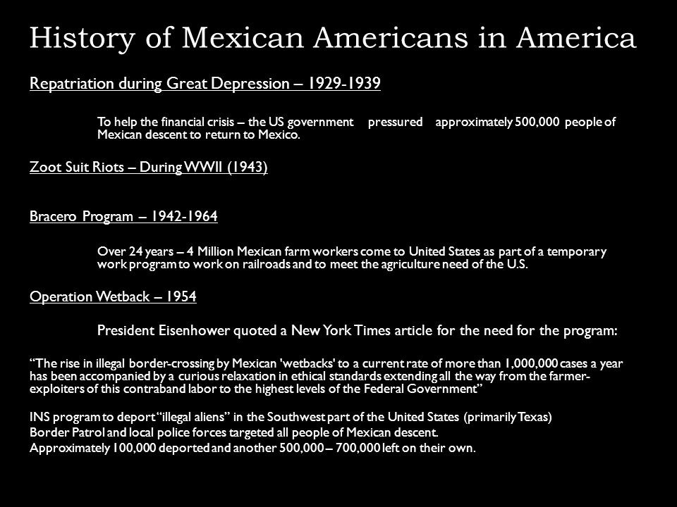 History of Mexican Americans in America
