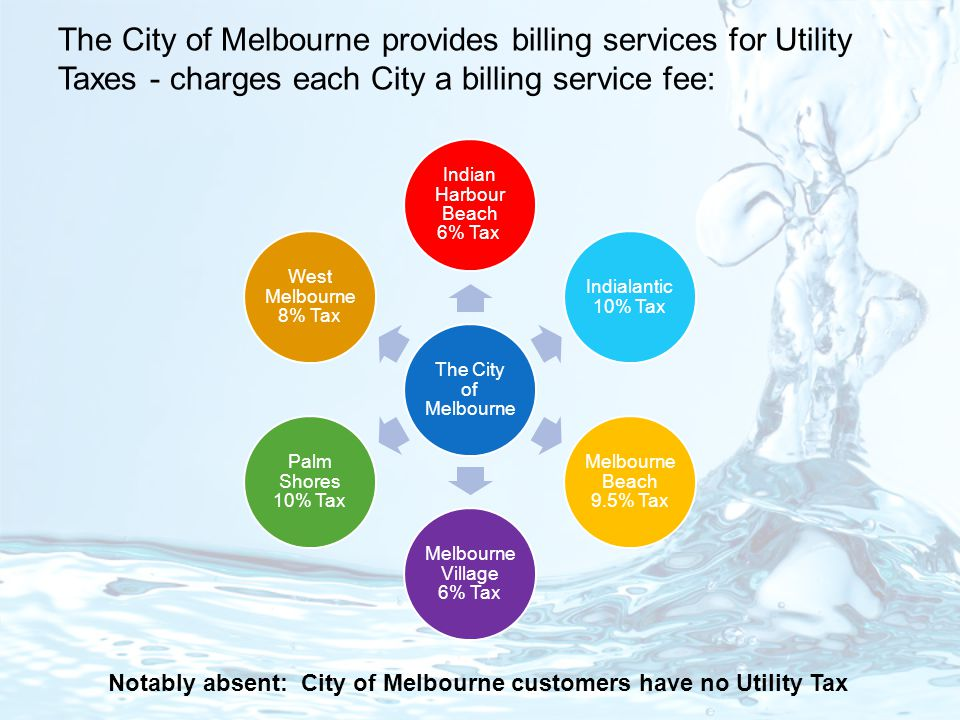 Notably absent: City of Melbourne customers have no Utility Tax