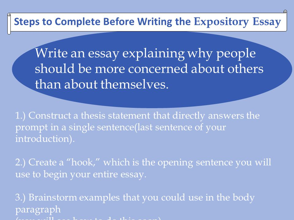 How do you write a good expository essay
