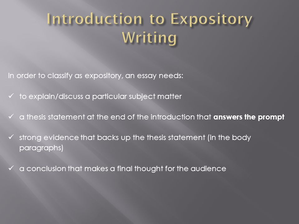 a good expository essay introduction