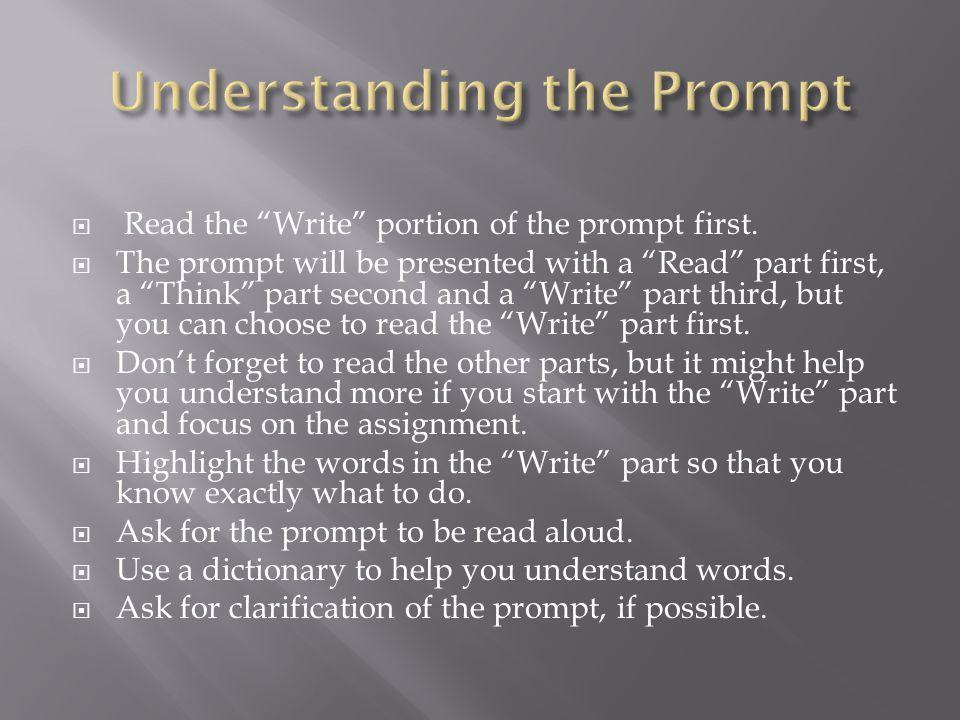 Understanding the Prompt