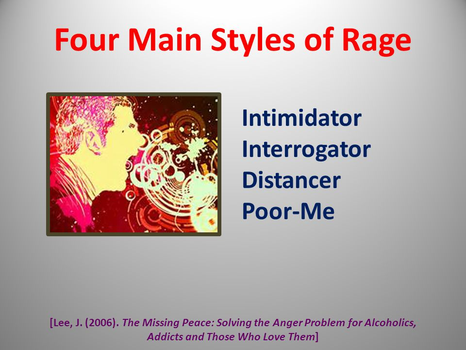 Four Main Styles of Rage