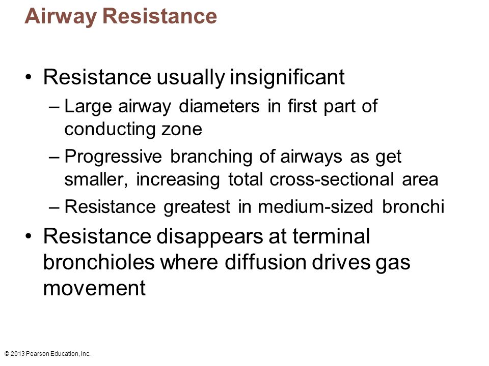 Resistance usually insignificant