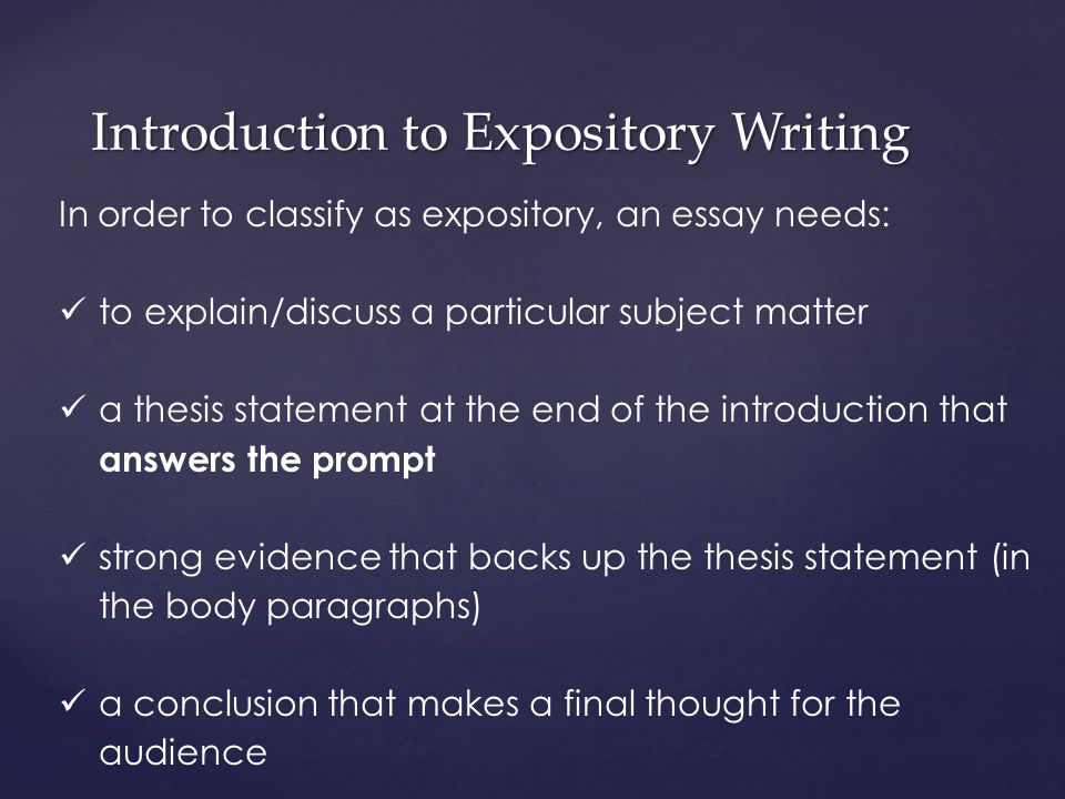 An Introduction To Expository Essay Writing