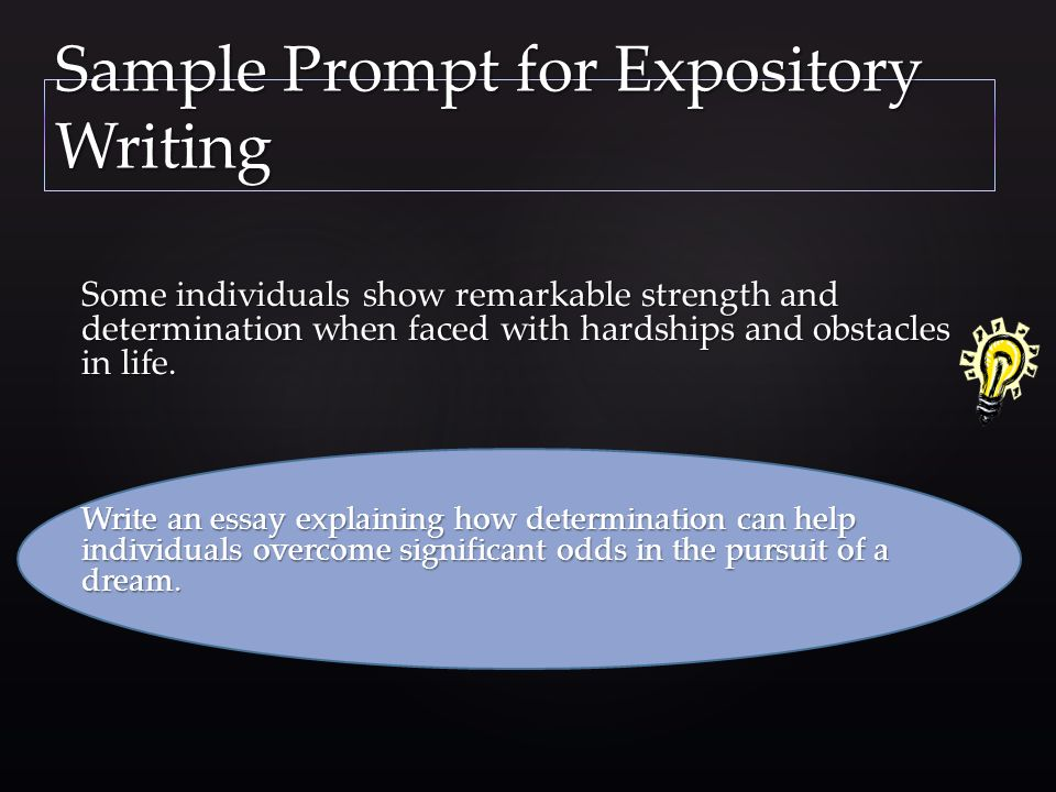 Sample Prompt for Expository Writing