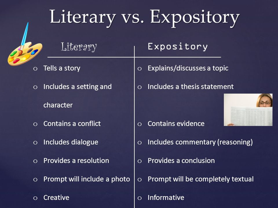 Literary vs. Expository