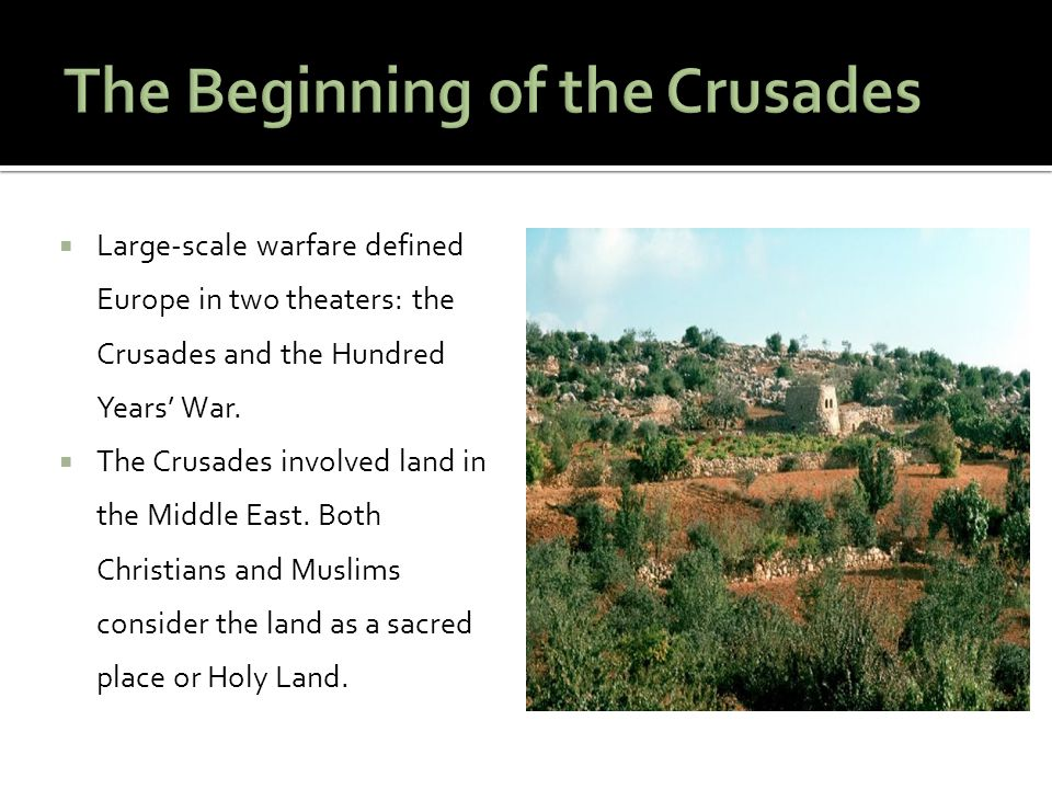 The Beginning of the Crusades