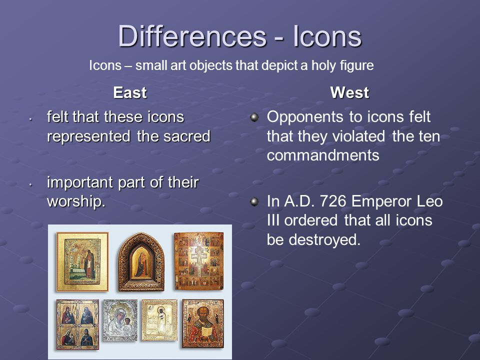 Differences - Icons East West