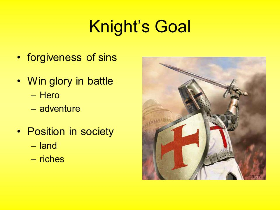 Knight's Goal forgiveness of sins Win glory in battle