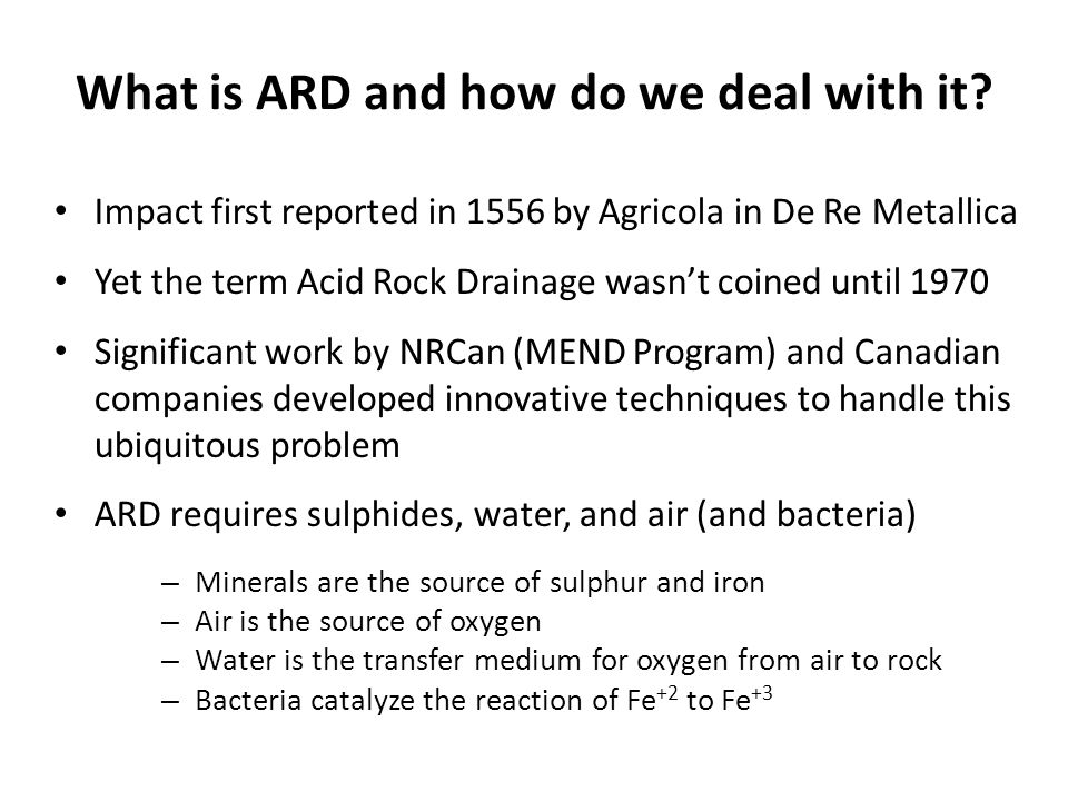 What is ARD and how do we deal with it