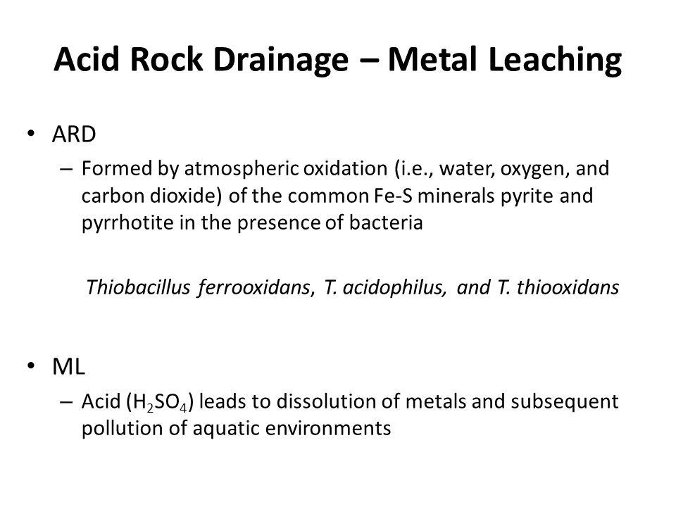 Acid Rock Drainage – Metal Leaching
