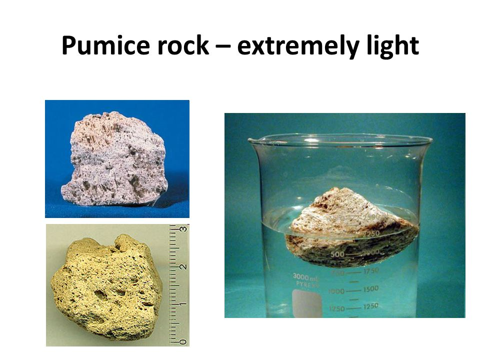 Pumice rock – extremely light