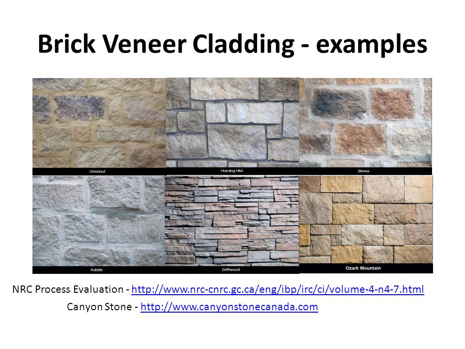 Brick Veneer Cladding - examples