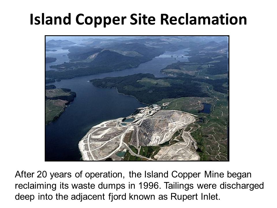 Island Copper Site Reclamation