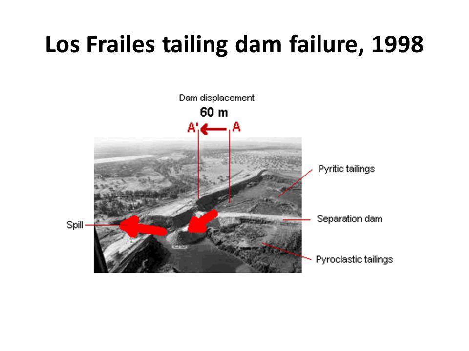 Los Frailes tailing dam failure, 1998