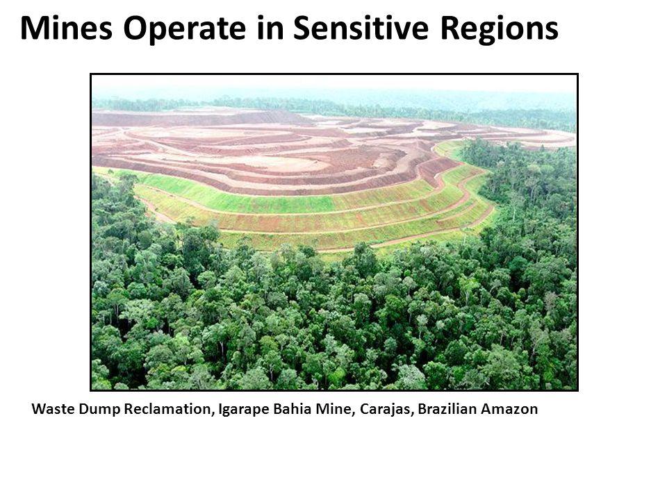 Mines Operate in Sensitive Regions