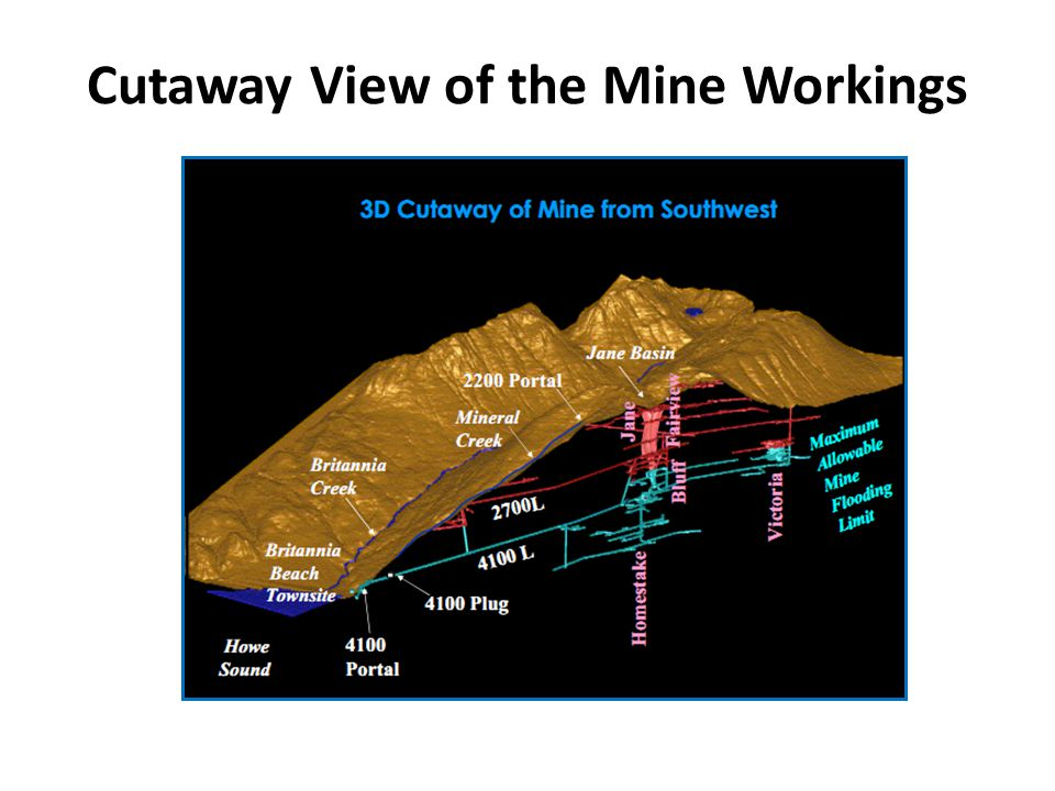 Cutaway View of the Mine Workings