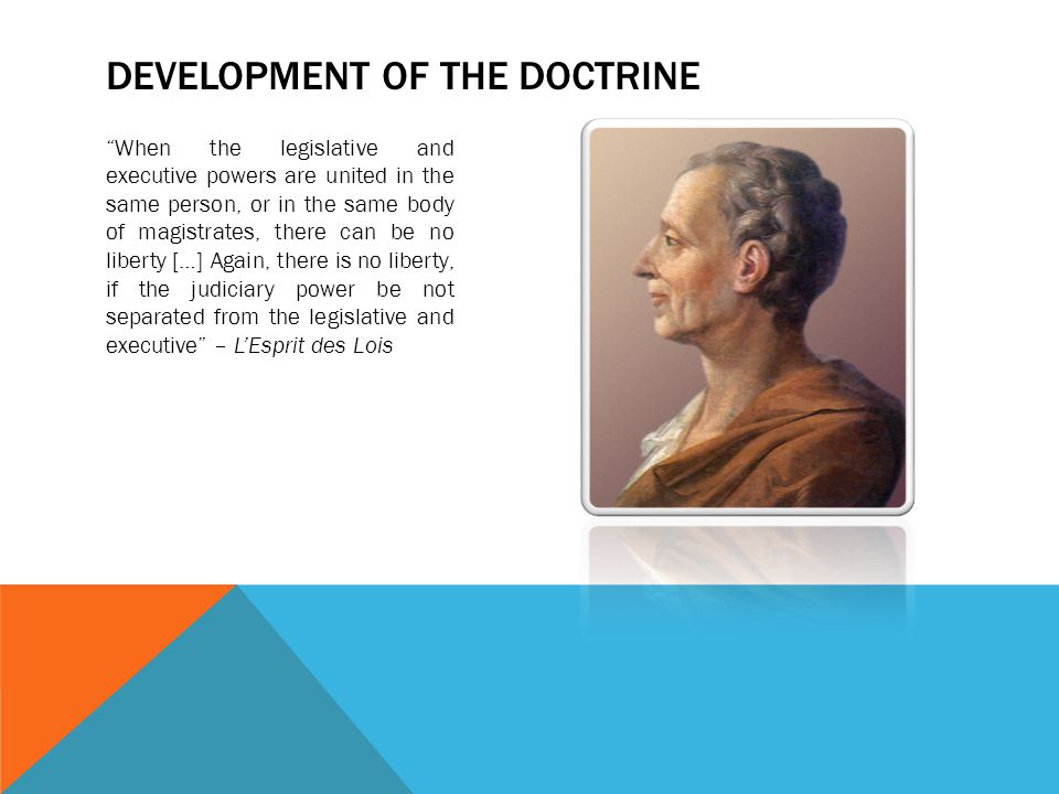 Development of the doctrine