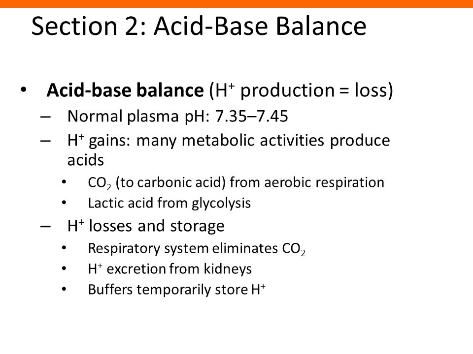 Section 2: Acid-Base Balance