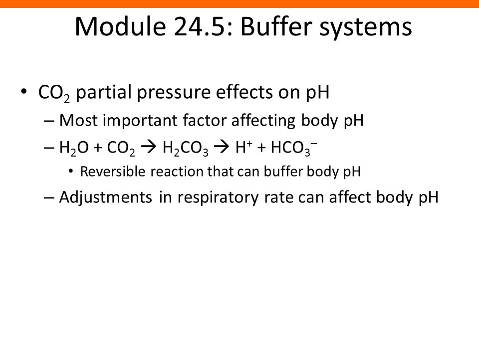 Module 24.5: Buffer systems