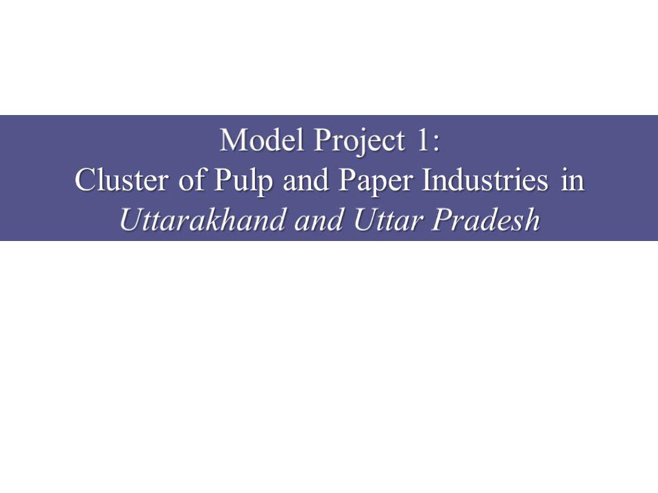 Cluster of Pulp and Paper Industries in Uttarakhand and Uttar Pradesh