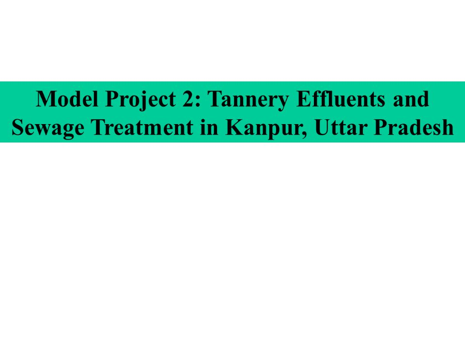 Model Project 2: Tannery Effluents and Sewage Treatment in Kanpur, Uttar Pradesh