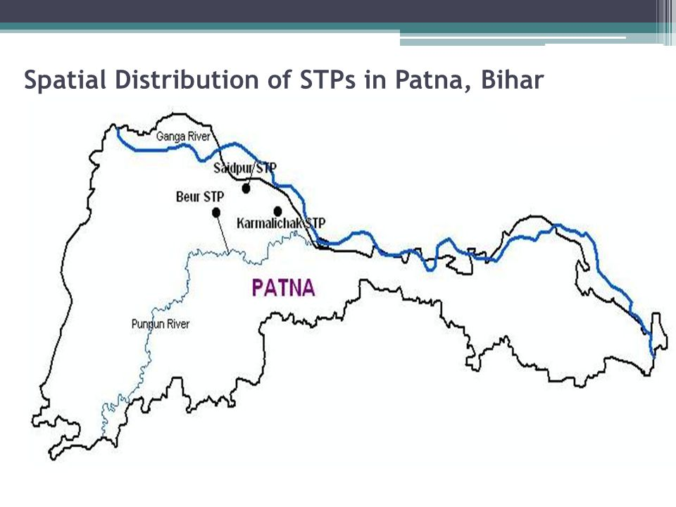 Spatial Distribution of STPs in Patna, Bihar