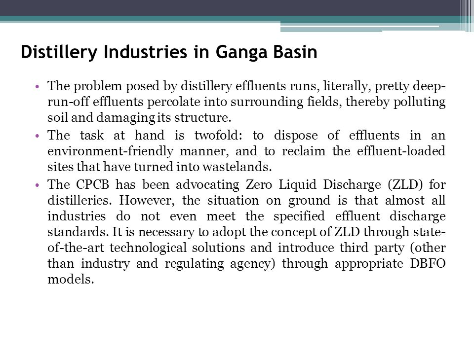 Distillery Industries in Ganga Basin