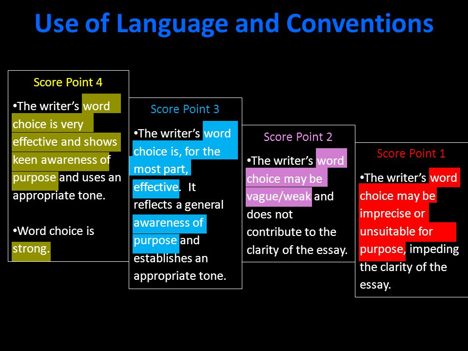 Use of Language and Conventions