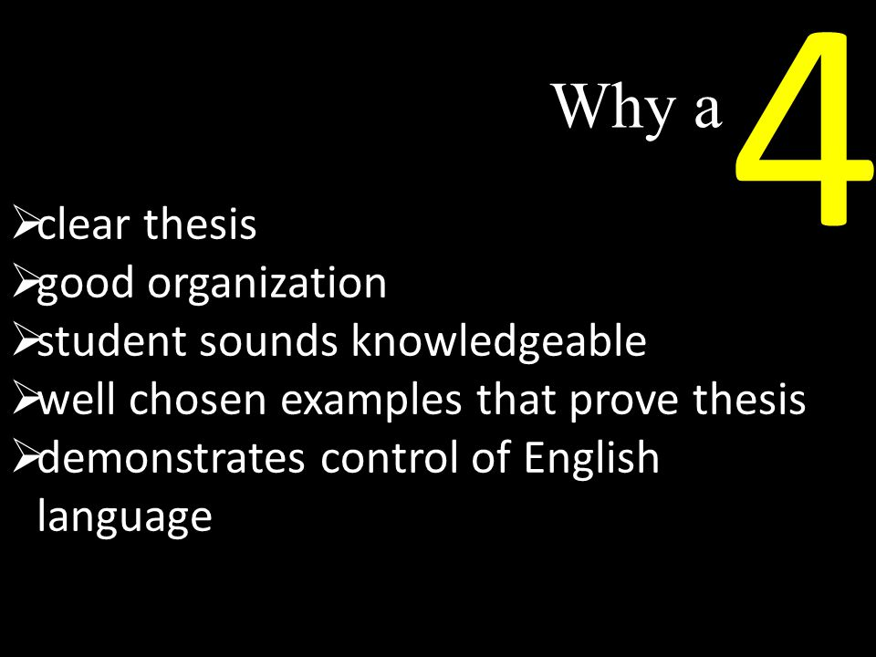 4 Why a clear thesis good organization student sounds knowledgeable