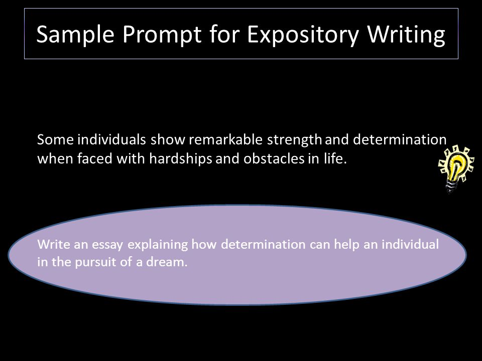 expository essay writing prompt Expository writing is an integral part using these or other writing prompt samples simply for sample expository prompts for high school proficiency.