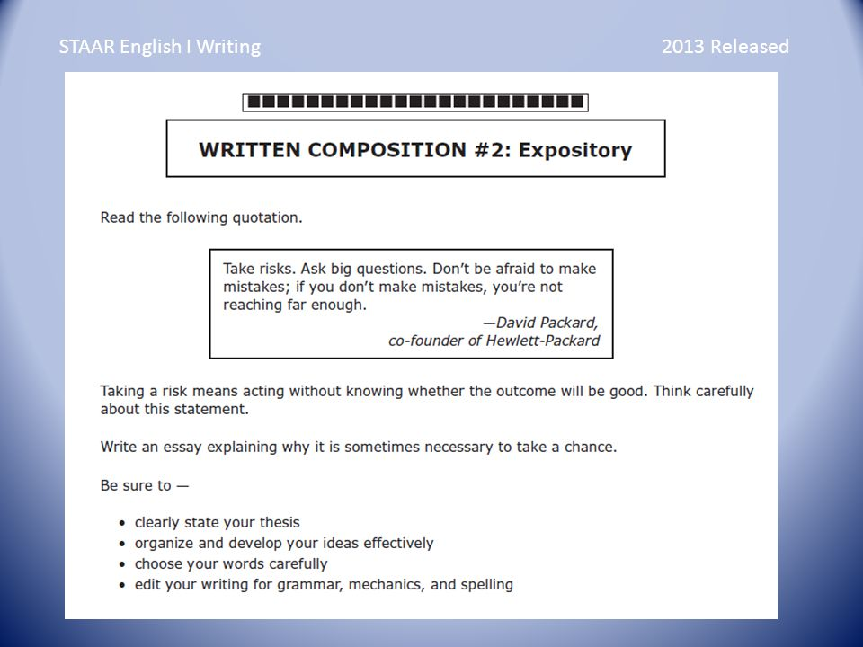 writing an expository essay ppt video online  7 staar english i writing 2013 released