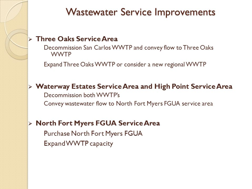 Wastewater Service Improvements