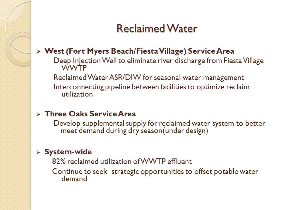 Reclaimed Water West (Fort Myers Beach/Fiesta Village) Service Area